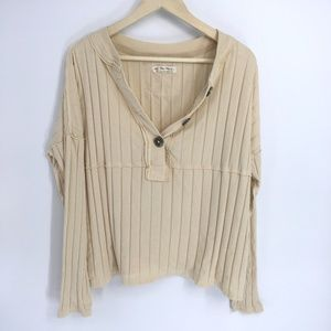 Free People In The Mix Wide Ribbed Long Sleeve Top